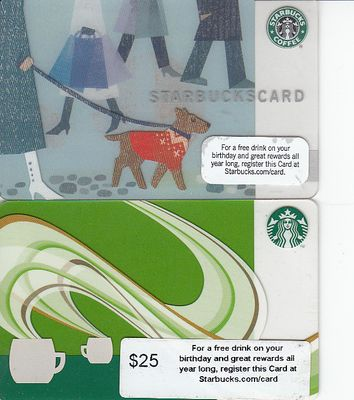 Starbucks 2009 Holiday & 2010 gift cards