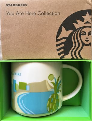 Starbucks 2013 You Are Here Collection Waikiki 14 ounce collector coffee mug NEW