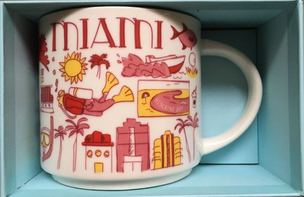 Starbucks 2018 Been There Series Miami 14 ounce collector coffee mug NEW