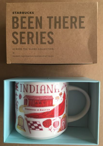 Starbucks 2018 Been There Series Indiana 14 ounce collector coffee mug NEW