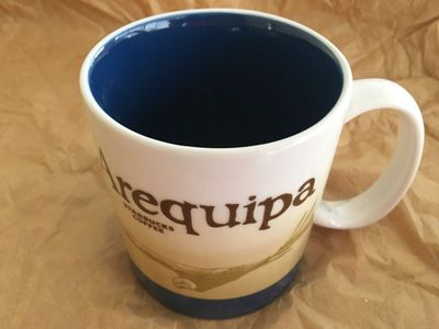 Starbucks 2008 Global Icon Series Arequipa (Peru) 16 ounce collector coffee mug NEW