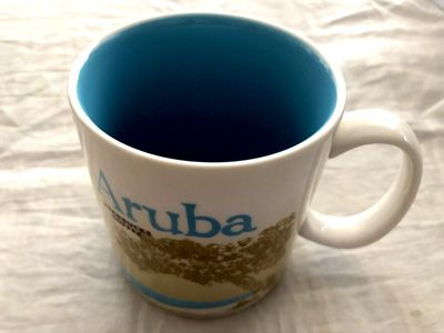 Starbucks 2008 Global Icon Series Aruba 16 ounce collector coffee mug NEW