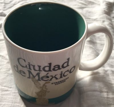 Starbucks 2008 Global Icon Series Ciudad de Mexico 16 ounce collector coffee mug NEW