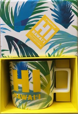 Starbucks Hawaii Collection 2016 14 ounce collector coffee mug NEW