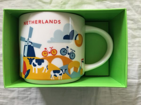 Starbucks 2013 You Are Here Collection Netherlands 14 ounce collector coffee mug NEW