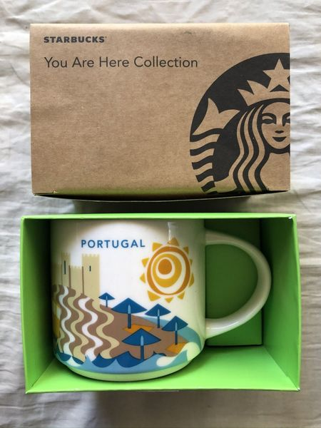 Starbucks 2013 You Are Here Collection Portugal 14 ounce collector coffee mug NEW