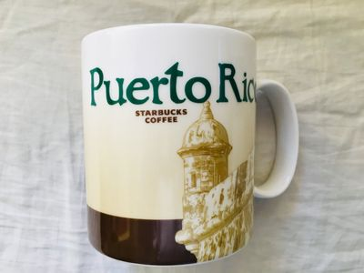 Starbucks 2008 Global Icon Series Puerto Rico 16 ounce collector coffee mug NEW