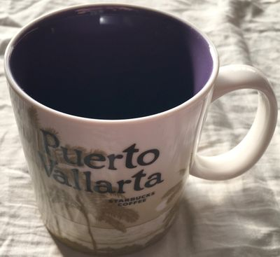 Starbucks 2008 Global Icon Series Puerto Vallarta 16 ounce collector coffee mug NEW