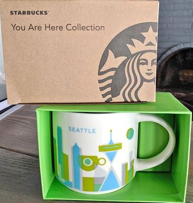 Starbucks 2013 You Are Here Collection Seattle 14 ounce collector coffee mug NEW