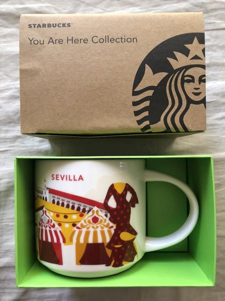 Starbucks 2013 You Are Here Collection Sevilla (Seville) 14 ounce collector coffee mug NEW