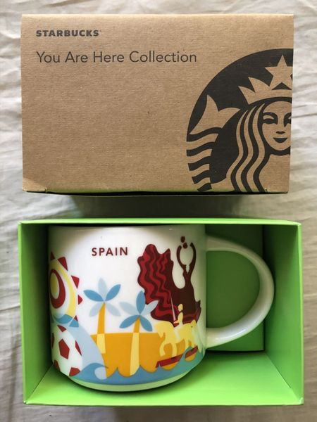 Starbucks 2013 You Are Here Collection Spain 14 ounce collector coffee mug NEW