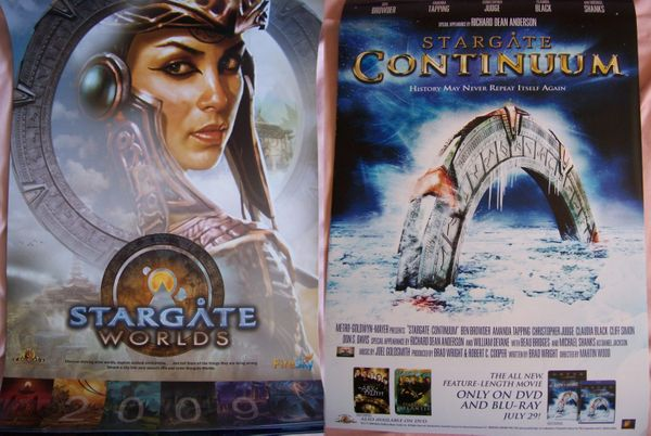Stargate Continuum & Worlds 2008 Comic Con 13x20 poster