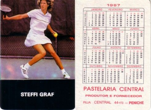 Steffi Graf 1987 Pastelaria Central card (RARE FROM PORTUGAL)