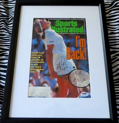 Steffi Graf autographed 1991 Sports Illustrated cover matted and framed (PSA/DNA)