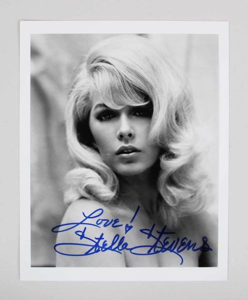 Stella Stevens autographed sexy 8x10 black and white photo inscribed Love!
