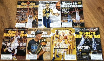 Lot of 7 Steph Curry 2013 2015 and 2016 Sports Illustrated issues including 2 RARE REGIONAL COVERS