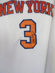 Stephon Marbury autographed New York Knicks authentic Adidas pro cut home white stitched jersey