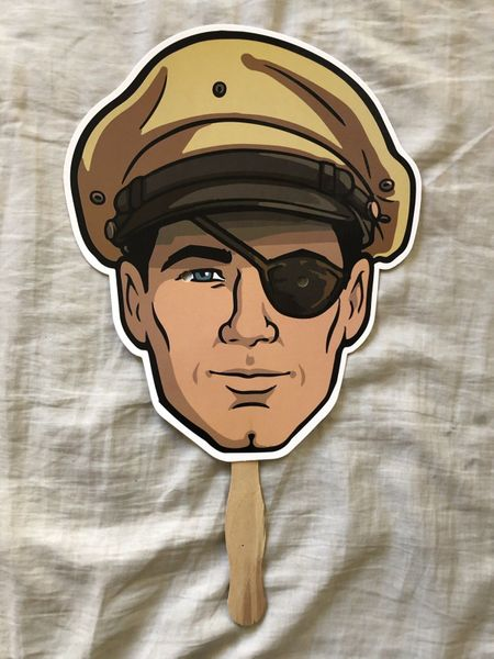 Archer Danger Island 2018 Comic-Con exclusive fan mask on a stick NEW