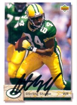 Sterling Sharpe autographed Green Bay Packers 1992 Upper Deck card