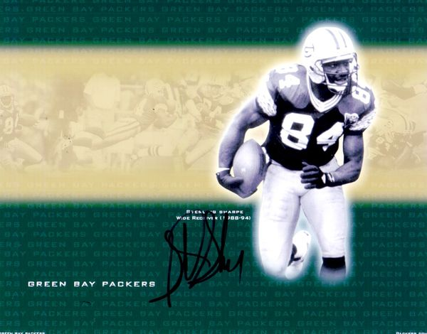 Sterling Sharpe autographed Green Bay Packers 8x10 photo