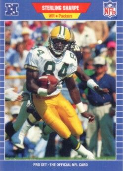 Sterling Sharpe Packers 1989 Pro Set Rookie Card
