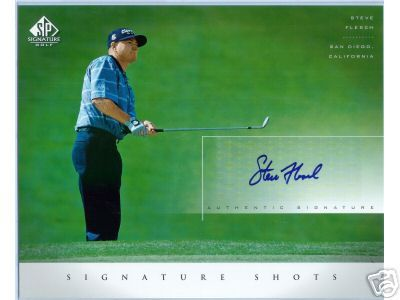 Steve Flesch certified autograph 8x10 SP Signature Golf photo card