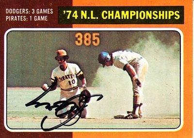 Steve Garvey autographed Los Angeles Dodgers 1975 Topps 1974 NLCS card