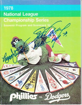 Steve Garvey & Reggie Smith autographed Los Angeles Dodgers 1978 NLCS program