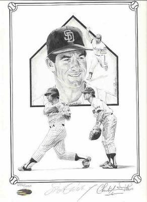 Steve Garvey autographed San Diego Padres 11x14 lithograph (Steiner)