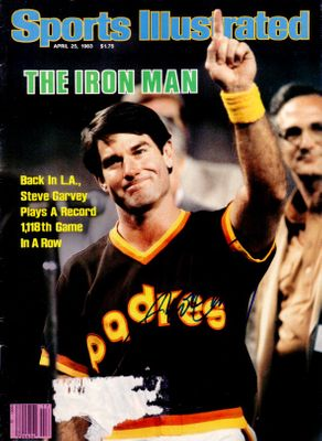 Steve Garvey autographed San Diego Padres 1983 Sports Illustrated