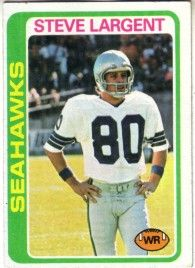 Steve Largent Seattle Seahawks 1978 Topps second year card #443 Ex