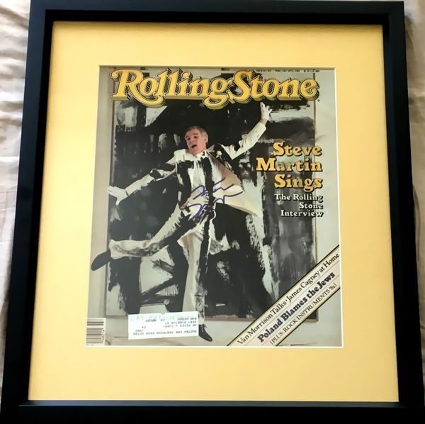 Steve Martin autographed 1982 Rolling Stone magazine cover matted and framed