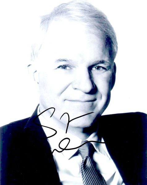 Steve Martin autographed 8x10 black & white portrait photo