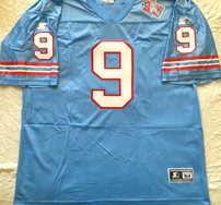 Steve McNair Tennessee Oilers 1998 authentic Starter blue stitched jersey NEW