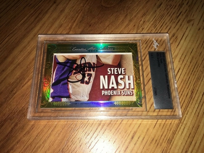 Steve Nash 2016 Leaf Masterpiece Cut Signature certified autograph card 1/1 JSA
