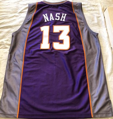 Steve Nash Phoenix Suns authentic Reebok purple game model stitched jersey