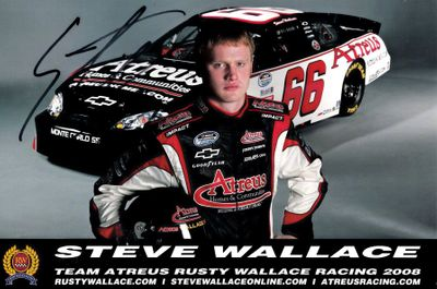 Steve Wallace autographed NASCAR 6x9 photo card
