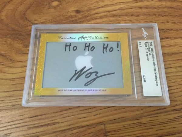 Steve (Woz) Wozniak 2017 Leaf Masterpiece Cut Signature certified autograph card 1/1 JSA Apple