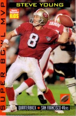 Steve Young 1998 Sports Illustrated for Kids card
