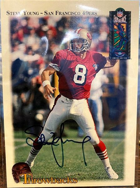 Steve Young autographed San Francisco 49ers 1995 NFL Experience card (#1019/1995)