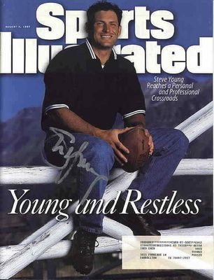 Steve Young autographed San Francisco 49ers 1997 Sports Illustrated