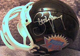 Steve Young autographed Super Bowl 29 mini helmet