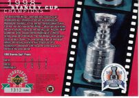 Steve Yzerman autographed Detroit Red Wings 1998 Stanley Cup Champions card #/200 (UDA)
