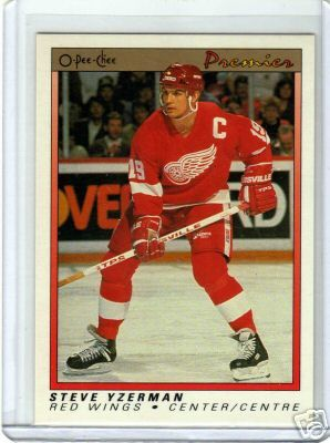 Steve Yzerman Detroit Red Wings 1990-91 OPC Premier card #130