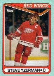 Steve Yzerman Detroit Red Wings 1990-91 Topps box bottom card