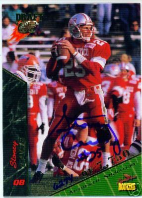 Stoney Case New Mexico certified autograph 1995 Signature Rookies card