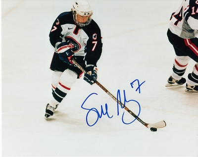 Sue Merz autographed 1998 USA Women's Hockey Team 8x10 photo