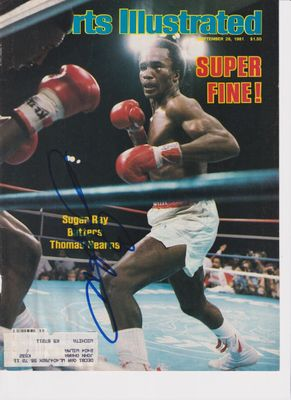 Sugar Ray Leonard autographed 1981 Sports Illustrated magazine cover