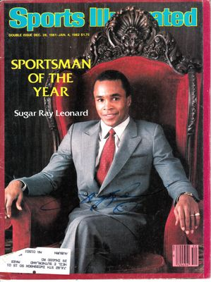 Sugar Ray Leonard autographed 1981 Sportsman of the Year Sports Illustrated