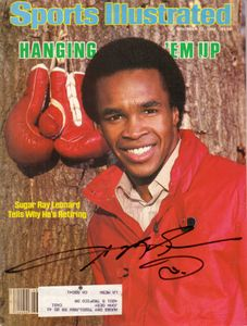 Sugar Ray Leonard autographed 1982 Sports Illustrated